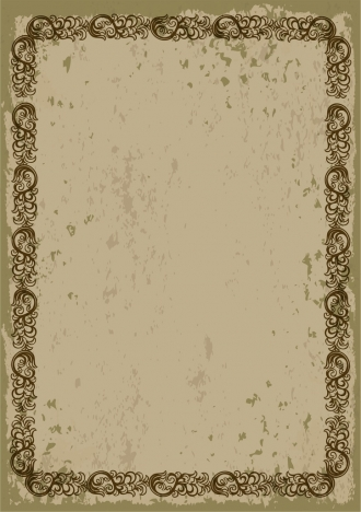 vintage brown border design seamless repeating style