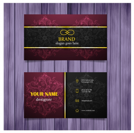 Vintage design business card template vectors stock for free vintage design business card template reheart Image collections
