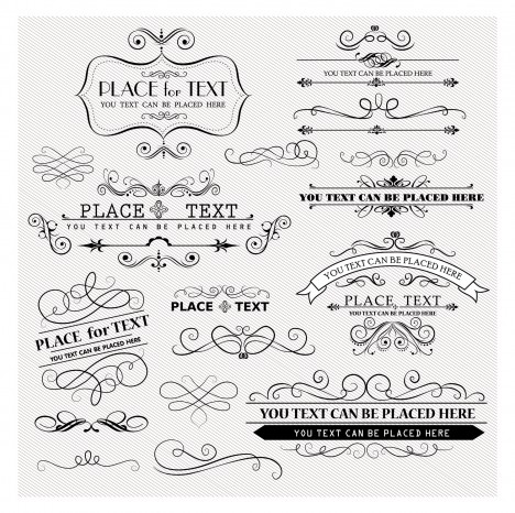 Vintage Frames and Scroll design element