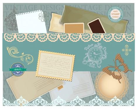 vintage stamp background design