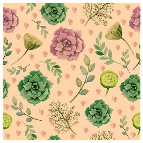 vintage watercolor flower pattern
