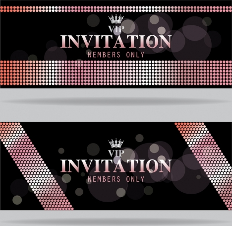 Vip card template black bokeh design crown icon vectors stock in vip card template black bokeh design crown icon maxwellsz