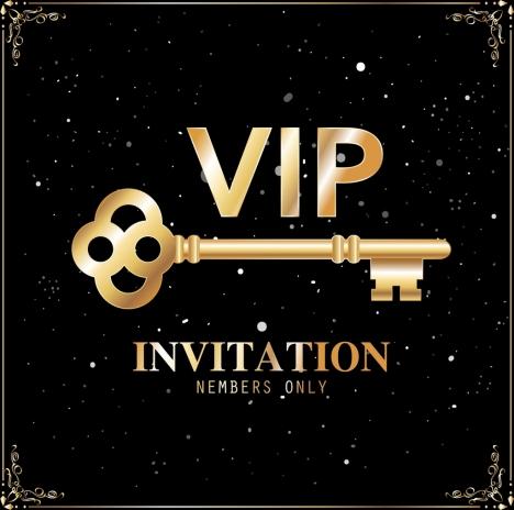 Vip card template golden key elegant black decor vectors stock in vip card template golden key elegant black decor maxwellsz