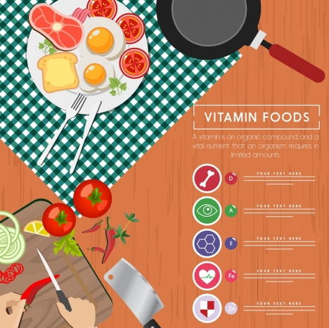 Vitamin Food Advertisement Culinary Preparation Background