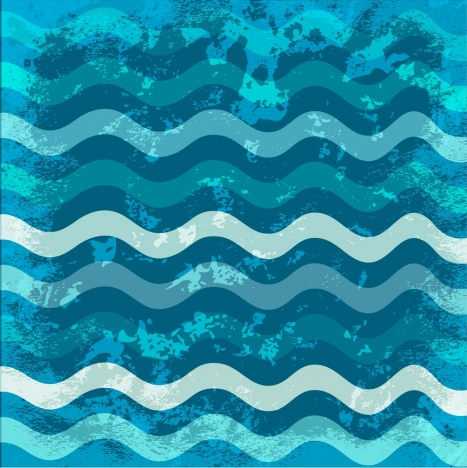 water background grungy blue curves design