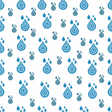 water drops background repeating flat blue design