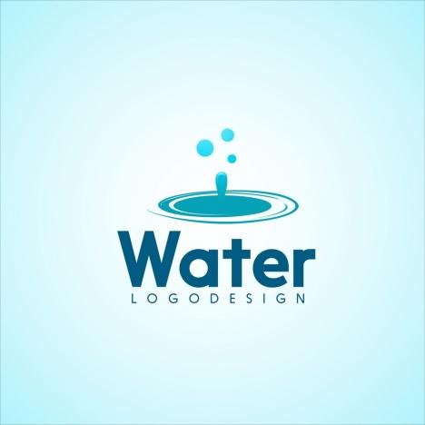 water logo design blue drops icon ornament