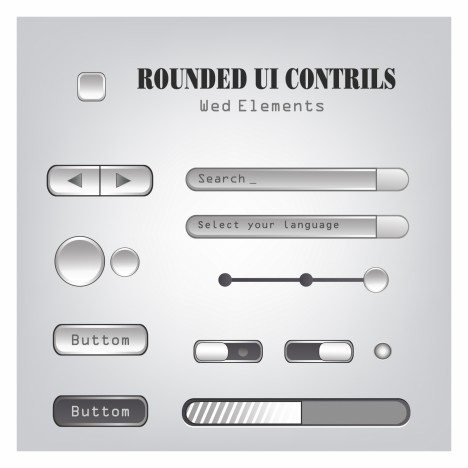 Web UI Controls Design Elements