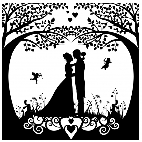 Wedding background template with silhouette style design vectors wedding background template with silhouette style design vectors stock junglespirit Gallery