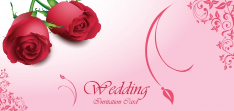 wedding decor with red rose