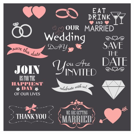 Wedding Design Elements Collection