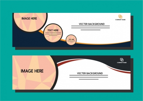 white banner template circles and curves design style vectors stock