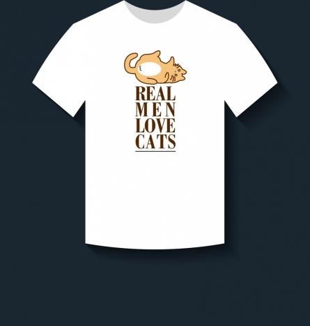 white tshirt design cute cat slogan decoration