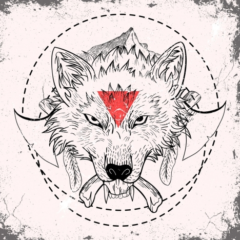 abe67d3ef Tribal tattoo design elements classical arrows icons · wolf tattoo template  classical decor