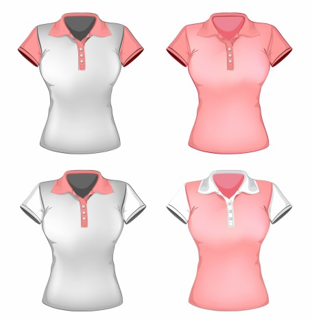 women polo shirt template