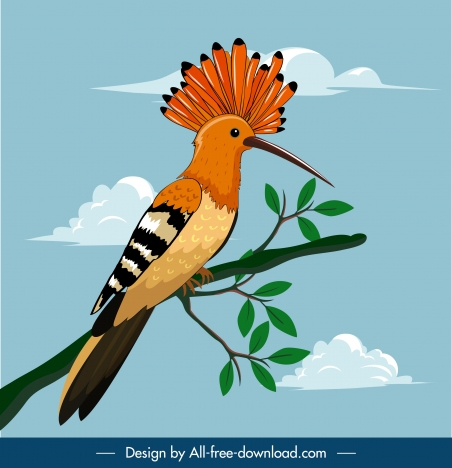 woodpecker bird painting cartoon design colorful sketch
