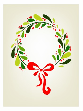 Xmas wreath background