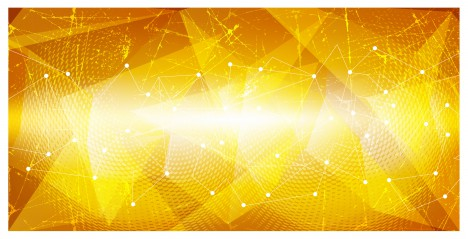 yellow network geometric abstract background
