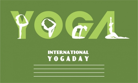Yoga Promotion Banner Text And Human Gestures Design Vectors Stock In Format For Free Download 1 54mb