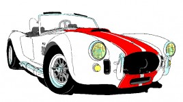 Race looks like shelby cobra kit car vectors stock for free download