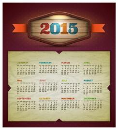 2015 calendar  Vector design template