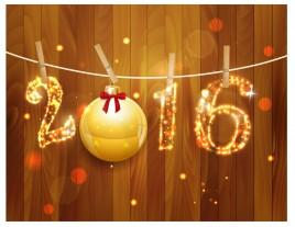 2016 golden light christmas decoration