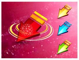 3d arrow design concept