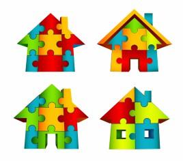 3D House Puzzle