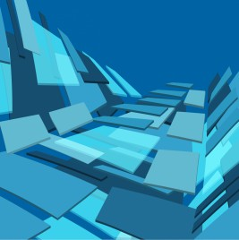 3d lines vector background