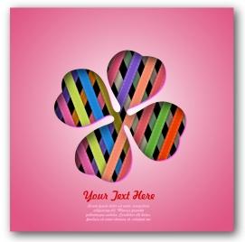 3d petals on pink background for card design