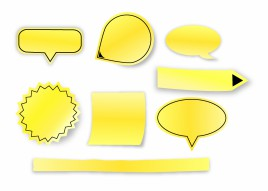 3D Sticky Notes and Pointers set