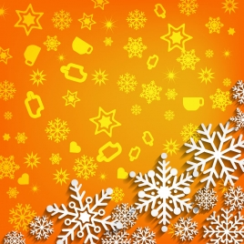 3d vector illustration abstract christmas background