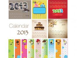 5 creative calendars 2013 + 9 angry bird calendars 2013 (15) calendars Uses several