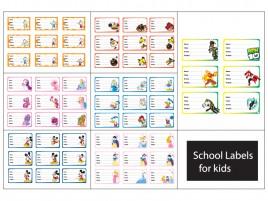 60 school labels for kids set 2