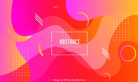 abstract background bright colored dynamic deformed decor