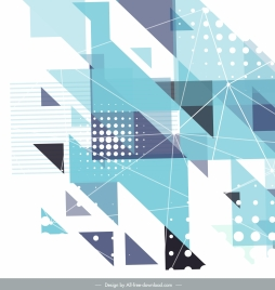 abstract background bright modern colored flat geometric decor