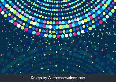 abstract background colorful circles lights layout