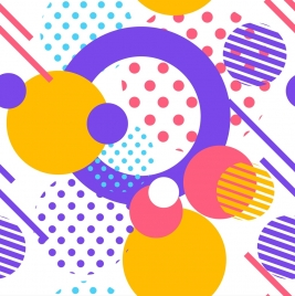 abstract background colorful circles lines decor