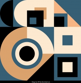 abstract background colorful classic geometric flat shapes