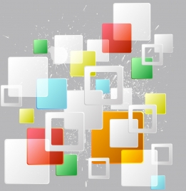 abstract background colorful squares grunge decoration