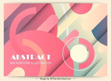 abstract background colors mixture decor flat geometric design