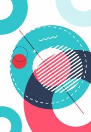 abstract background flat circles decor closeup design