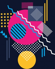 abstract background flat colorful geometric design