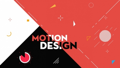 abstract background flat motion icons decoration