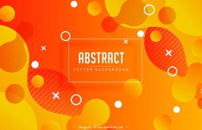 abstract background flat orange deformed circles decor