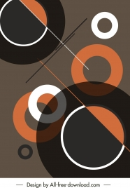 abstract background geometric circles sketch colorful flat dark