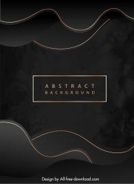abstract background golden curves decor elegant dark design