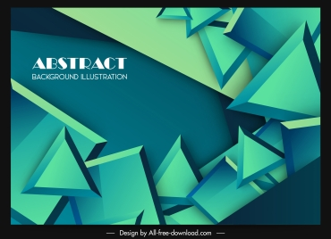 abstract background modern 3d geometric floating decor