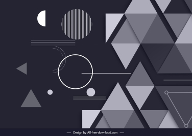 abstract background modern flat geometric decor