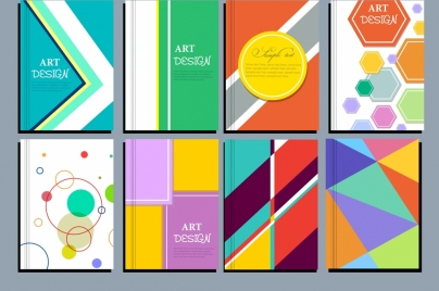 abstract background sets colorful geometric design